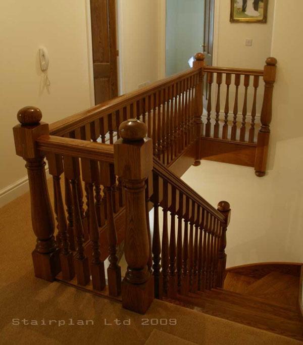 Landing Balustrade Oak Bespoke Prescott Stair - stairs and under stair storage