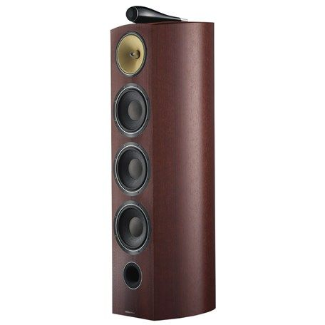 These speakers are one of the best investments we've made, visually they work in our living room.These speakers avoid having some unattractive plastic speaker set ruin the ambiance..Bowers & Wilkins 803 Diamond series in a rosenut finish.
