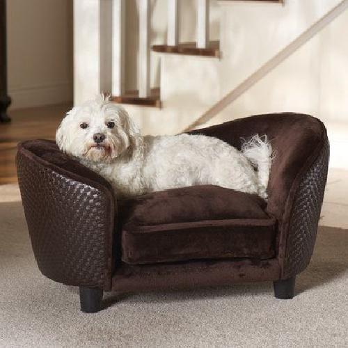 Pet Sofa Dog Pillow Ultra Plush Pet Bed Comfort Cushion Warmth Brown Furniture #EnchantedHomePet ,#Christmas,#tree,#decor,#Santa,#xmas,#decoration,#inflatable,#holiday,#party,#sandaclaus,#yard,#garden,#patio,#accessories