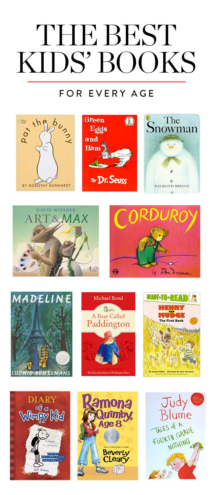 The Best Kids' Books For Every Age (From 1 to 15) via @PureWow