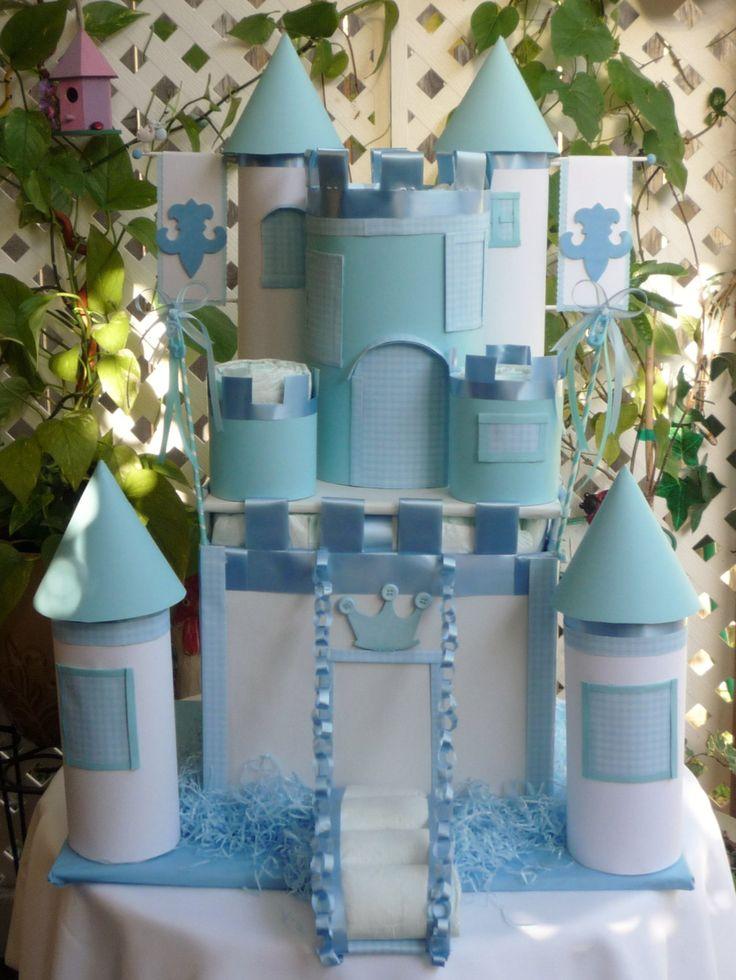 Castle Diaper Cake Prince Diaper Cake Baby by BasketsFromAtoZ, $100.00