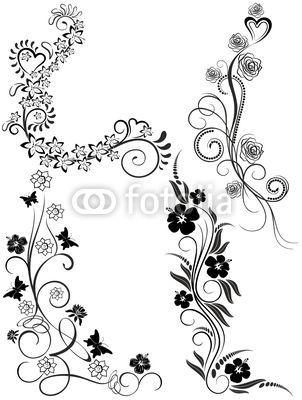 #Tattoo #Ornamental #Floral #Elements-Vector © #Bluedarkat - on #Fotolia!