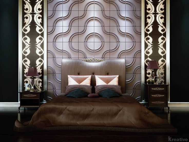 luxury and futuristic bedroom design ideas with 3d wallpaper dark themes interior cool 3d wallpaper for
