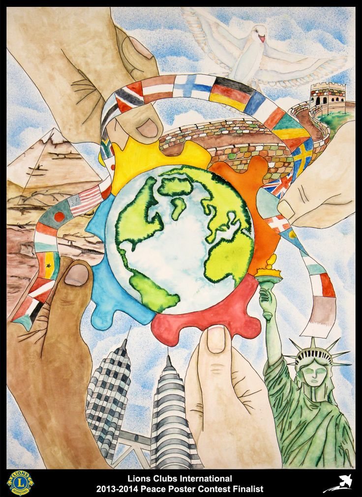 Finalist from Michigan, USA (Troy Community Lions Club) - 2013-2014 Peace Poster Contest