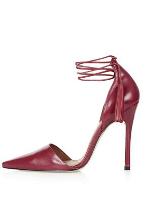 Our blood red tassel tie courts are the Halloween heel that will see you through your spook season parties.
