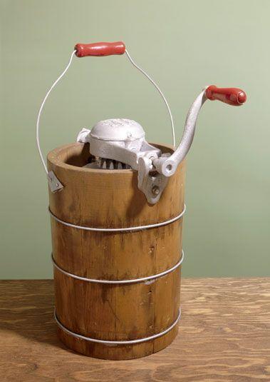 old school ice cream maker