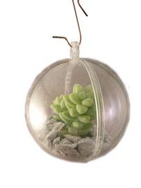 3 Levende kerstballen, plastic bal