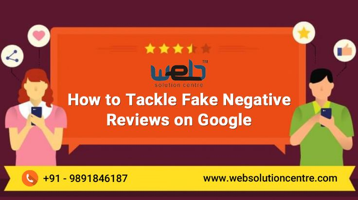Web Solution Centre Explains How to Tackle #FakeNegativeReviews on Google | Getting a #fake negative #review from a competitor who is desperately pretending as a customer is one of the most helpless situations one can face. You simply can't get it removed from the reviews section of the #Google but you can surely do something about it.