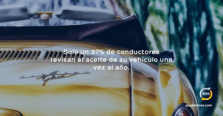 Poco más de un tercio de conductores revisan el aceite de su coche una vez al año, cuando se recomienda hacerlo una vez al mes.  http://www.spgtalleres.com/  #tallerdecoches #estadísticas #revisiones #coches