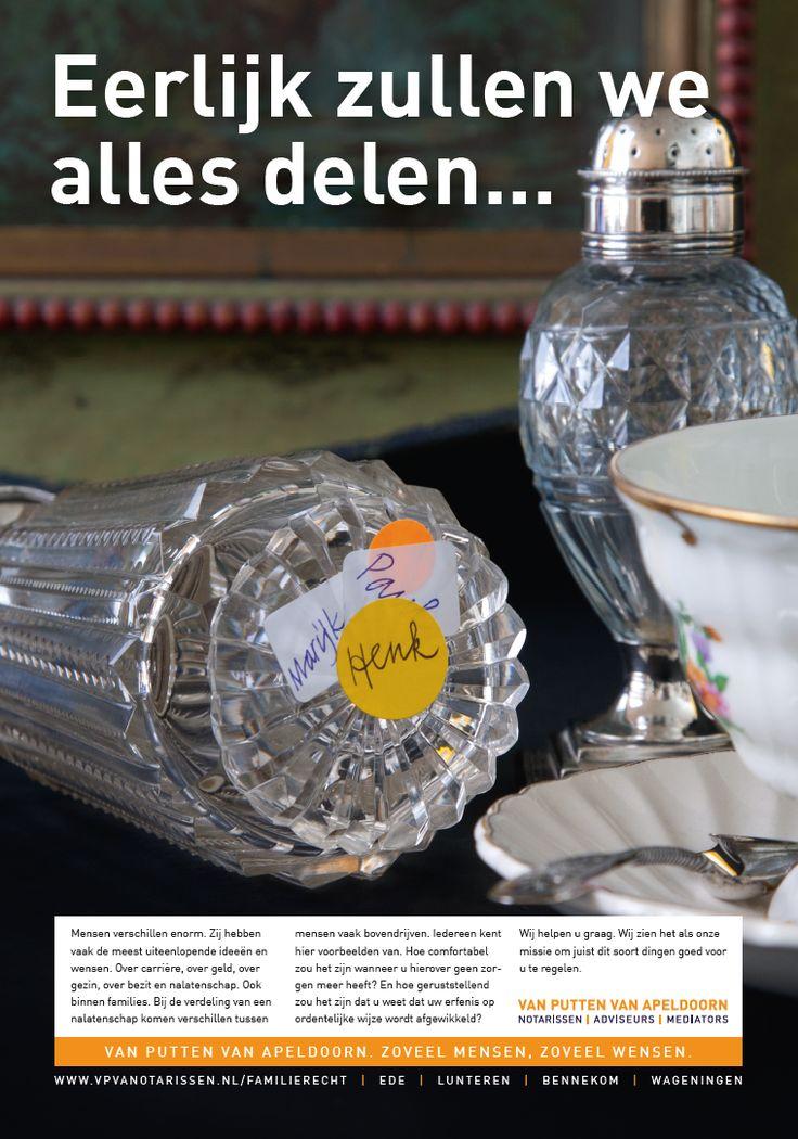 Campaign for notary office Van Putten Van Apeldoorn. graphic design typography art grafisch ontwerp typografie logo