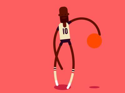 Dribbble #Basketball Player #Animation Design