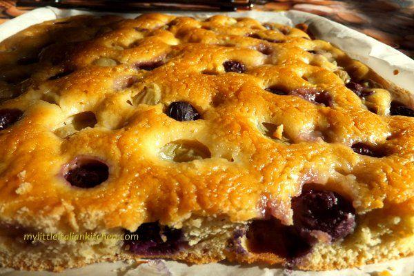Grape Focaccia – Schiacciata d'uva   My Little Italian Kitchen