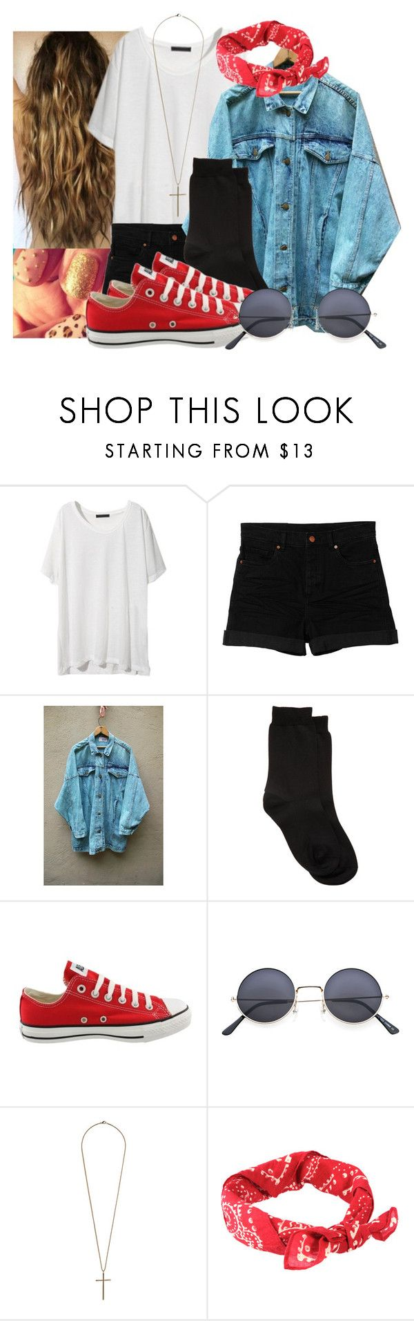 """""""..."""" by jamilah-rochon ❤ liked on Polyvore featuring Monki, Maria La Rosa, Converse, Miss Selfridge and Denim & Supply by Ralph Lauren"""
