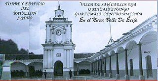 Foto tomada en el año 1875 en la plaza de armas de el municipio de San Carlos Sija, Valle De Écija