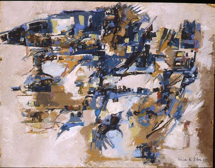 Untitled, 1958 by Maria Helena Vieira da Silva. Tachisme. abstract