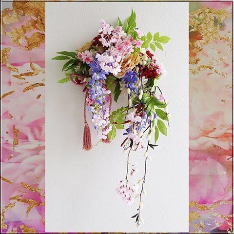 【pistil_isk】さんのInstagramをピンしています。 《お正月飾り(桜•藤の花•ネコヤナギ) #お正月#お正月飾り#和風#花#flower#Japanestyle#NewYear#welcomewreath#wreath#ISK#Pistil#アイエスケイ#ピスティル#オーナメント#ornament#造花#Artificialflowers#フラワーアレンジ#金沢市#石川県#flower#flowerarrangment#cultureofjapan#日本の文化#japan#egg_dimple#桜#cherryblossoms#藤の花#tounohana#ネコヤナギ》