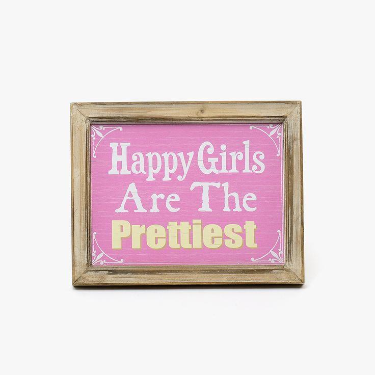 Placa Happy Girls | referência 74073178 | A Loja do Gato Preto | #alojadogatopreto | #shoponline