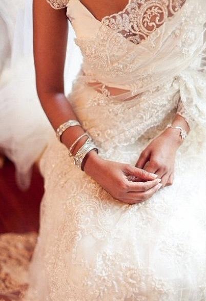 Sari wedding dress