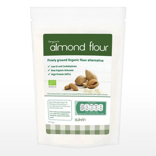 Fat Reduced Organic Almond Flour - 250g from Muscle Food