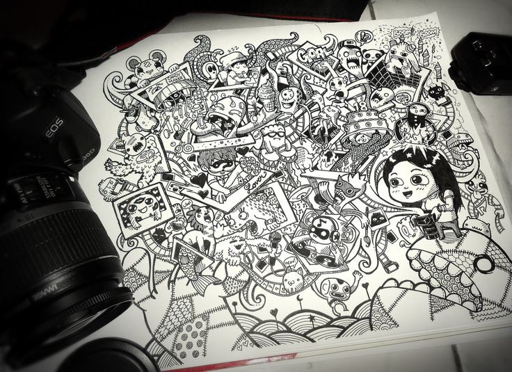 A photographer's life in doodle