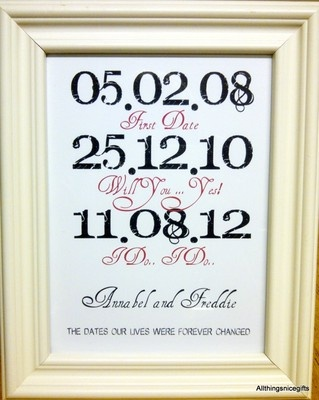 Unusual Wedding Gift Personalised For Fiance Bride Groom