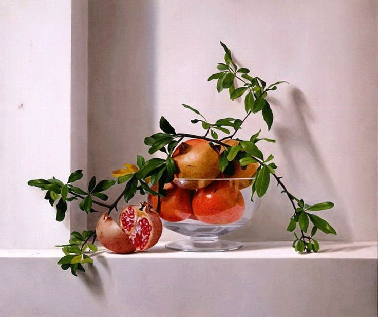 Realismo del bodegón artístico Oleo sobre lienzo Frutas realistas ...