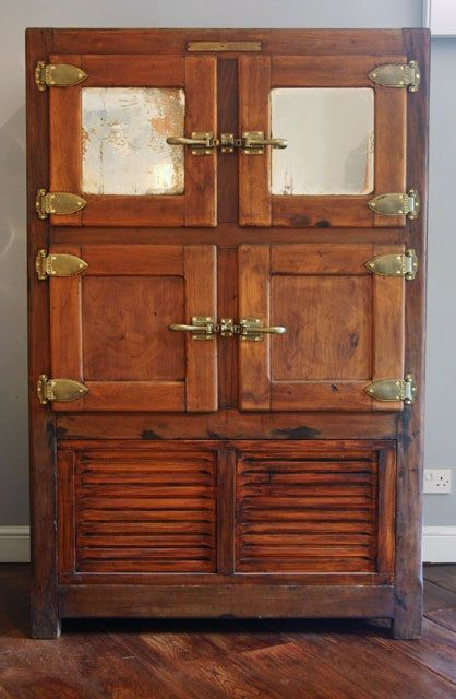 204 Best Images About Antique Ice Box On Pinterest Solid
