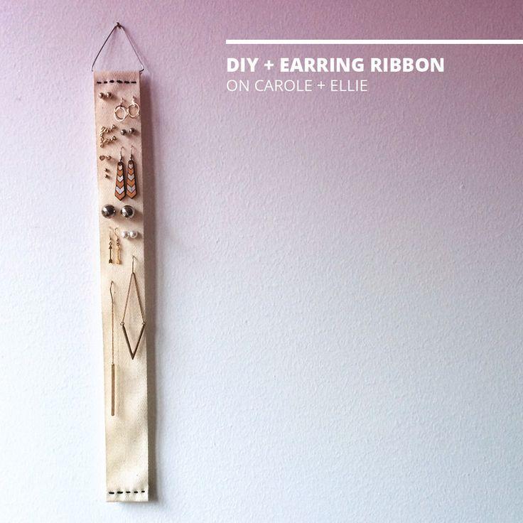 DIY + Earring Ribbon   CAROLE + ELLIE