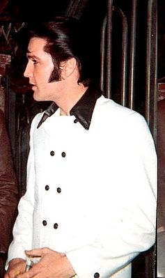 Elvis Outside His Gates in Beverly Hills 1969