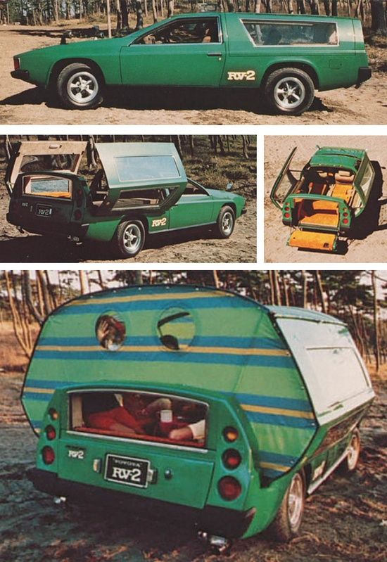 Ultracool – the Toyota RV-2 prototype was unveiled in 1972 at the Tokyo Motor Show. The basis of this bizarre 4-person Camper Concept F …