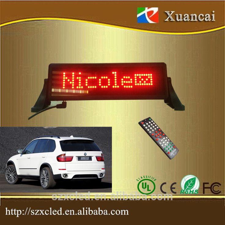 Mini car sign scrolling message IR remote controller & USB computer optional chars,digits,symbol display board #Char, #board