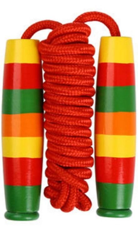 "Funny Jump Rope Childrens Skipping Rope(86.61"""""""")Wood Handle"