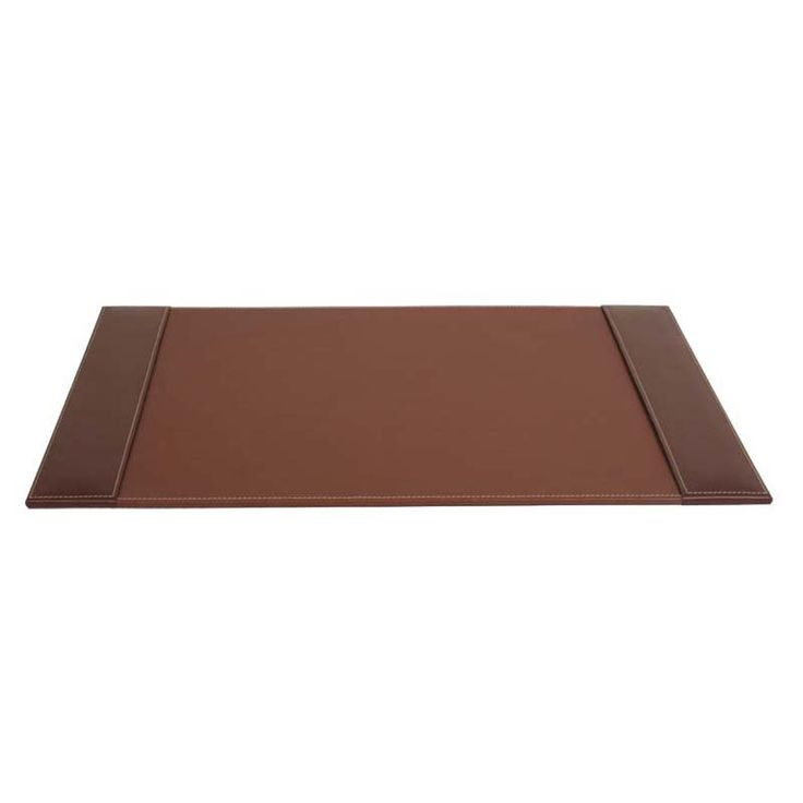 Dacasso Leather Side-Rail Desk Pad - Rustic Brown - P3202