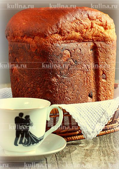 Булка с изюмом в хлебопечке - рецепт с фото