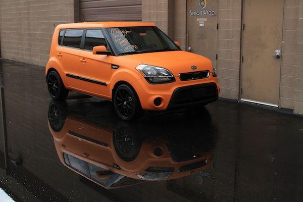 Custom Vehicle Wrap By Smartwrap Com Matte Orange Kia