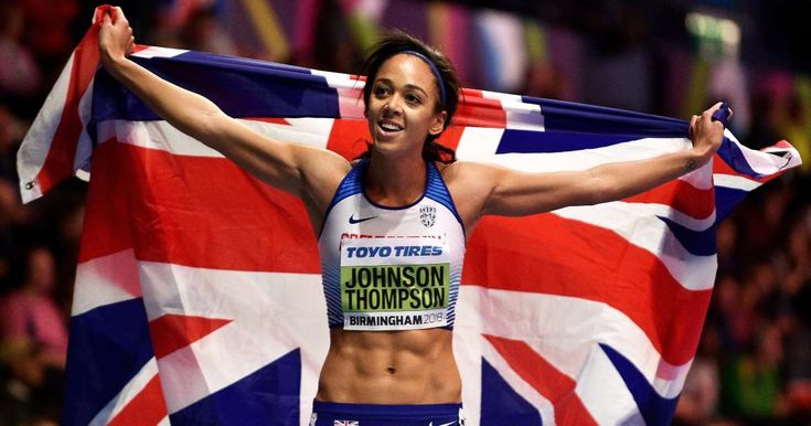 Great Britain's Katarina Johnson-Thompson claimed her first global title with victory in the pentathlon in Birmingham