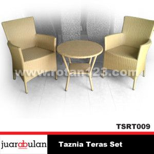 Taznia Teras Set Kursi Rotan Sintetis TSRT009 copy