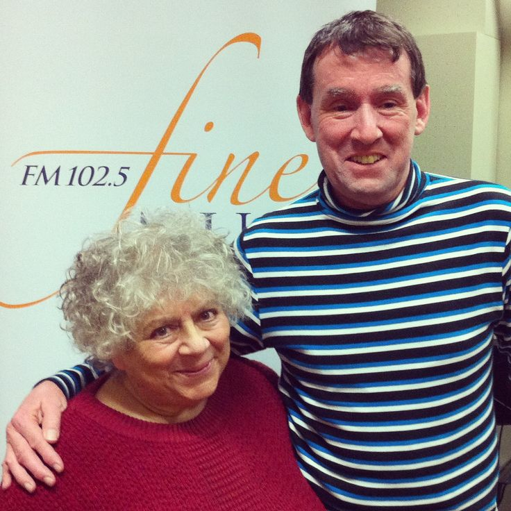 Miriam Margoyles at the station for In Conversations. Click on web link to hear audio playback of program.