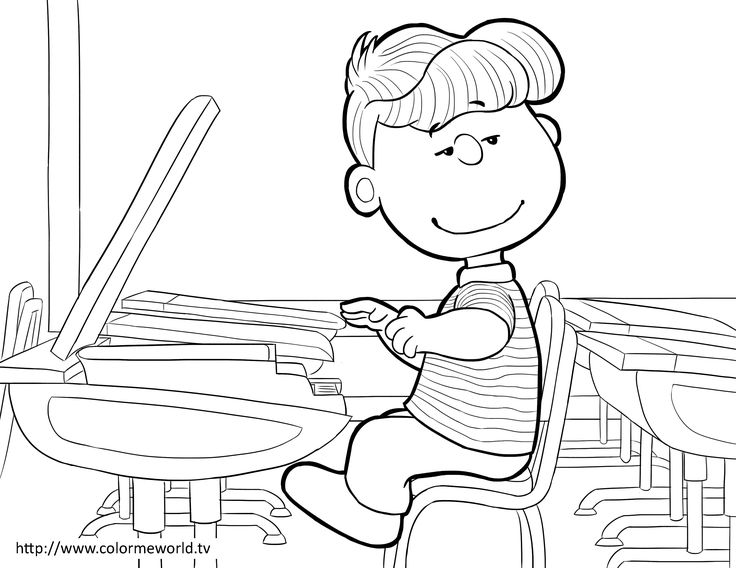 10 best Peanuts Coloring Pages images on Pinterest ...