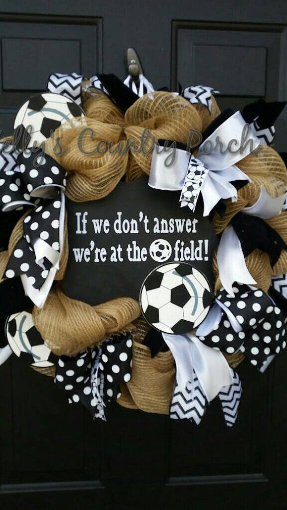 Hey, I found this really awesome Etsy listing at https://www.etsy.com/listing/270743648/soccer-wreath