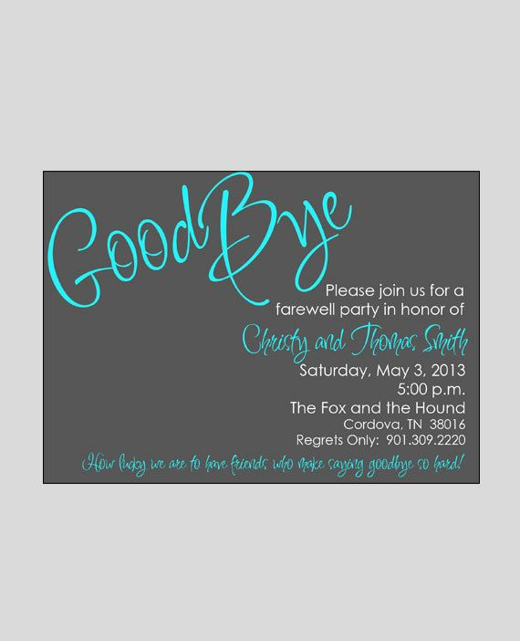 farewell bon voyage going away invitation printable retirement invitation you print - Goodbye Party Invitation