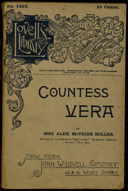 27 best dime novels popular literature images on pinterest villanova digital library countess vera or the oath of vengeance by mrs fandeluxe Epub