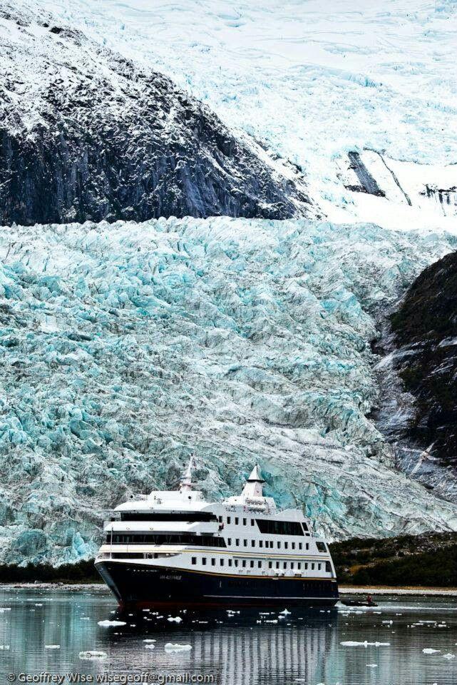 Glaciar región de Magallanes, Chile