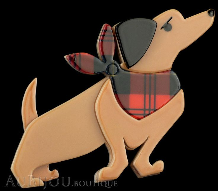 Erstwilder Dachshund Dog Pin Brooch Bitsa Bob