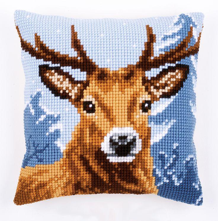 """Набор для вышивания подушки """"Северный олень"""""""
