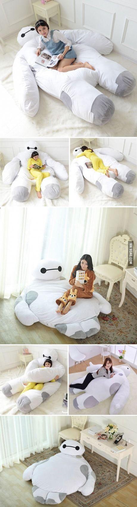 This Life Size Baymax Sofa Bed Is What I Need To Hug While I Sleep! I NEED IT!!!!!!!!! TAKE MY MONEY!!!!!!