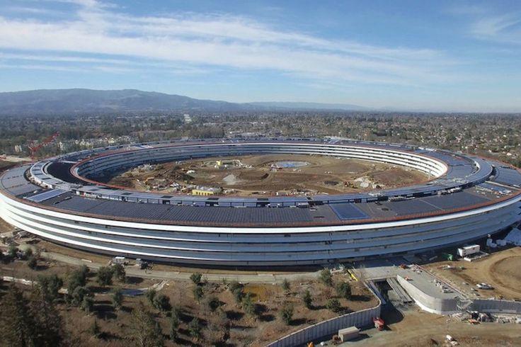 Gracias a un drone fue posible divisar las instalaciones del Apple Park, el nuevo edificio de la empresa radicada en Cupertino.