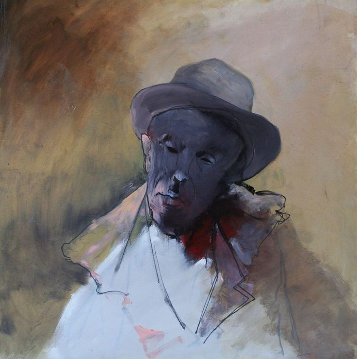 """Tom Waits"", oil on canvas, 60X60cm, painted by Marcin Truszkowski"