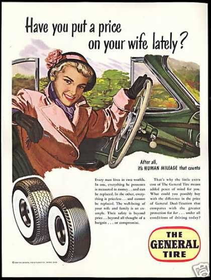 """1950s Ad. """"Have you put a price on your wife lately?"""" omg!!"""