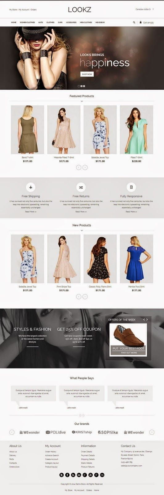 Looks VirtueMart #Template is specially designed for clothes, #fashion #store, apparel and women's store